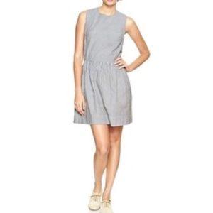 NEW GAP Seersucker Striped Dress Blue Size 12